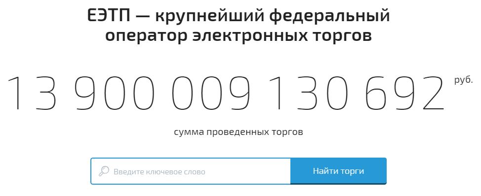 Росэлторг электронная площадка, торги в России